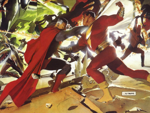 Superman's brawl with Captain Marvel would be quite a sight to behold.