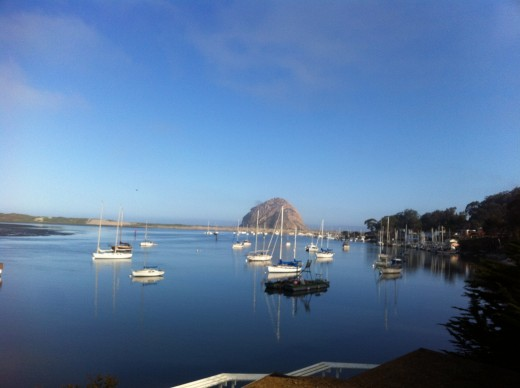 A view of Morro Rock from The Inn at Morro Bay.