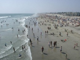 The beach today