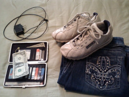 Other essential items in any disaster are money, identification, closed toe shoes, jeans and phone chargers.