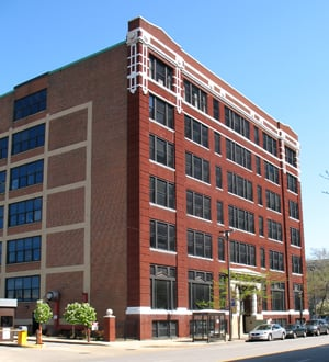 This former warehouse near the city/county Justice Center now houses legal offices.