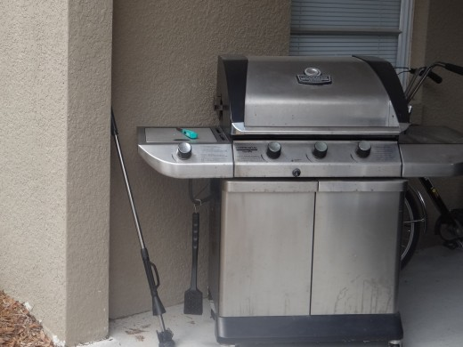 """The """" Grill """" of his dreams....is hot and has satisfied his appetite..."""