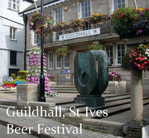 St Ives Beer Festival in Cornwall: Held at the Guildhall.