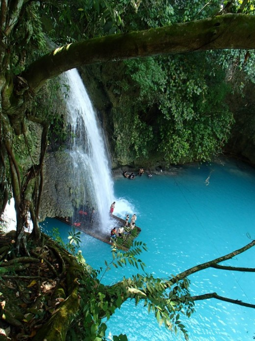 Kawasan Falls, Badian, Cebu, Philippines one of the 3 Waterfalls - biggest Kawasanfalls