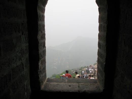 A view from a higher part of the Great Wall