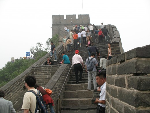 Climbing up higher on the Great Wall