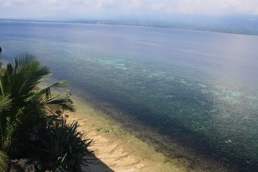 Santander, Liloan,  Cebu, Philippines, Hotel Eden Resort - seafront above the cliff - private beach