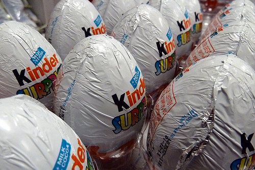 Kinder eggs waiting to be eaten by Comrade Foot on Flickr