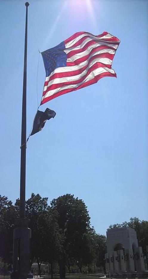 World War II Memorial Day Flag