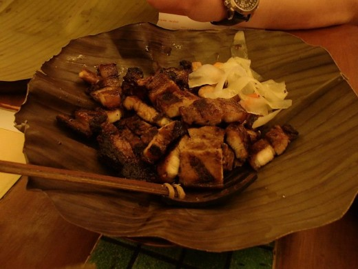 Filipino Native Food - Grilled Pork Belly - Light House Restaurant, Cebu City, Philippines
