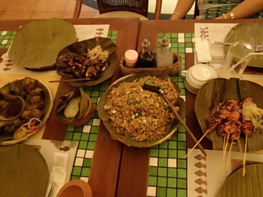 Filipino Native Foods - Light House Restaurant, Cebu City, Philippines