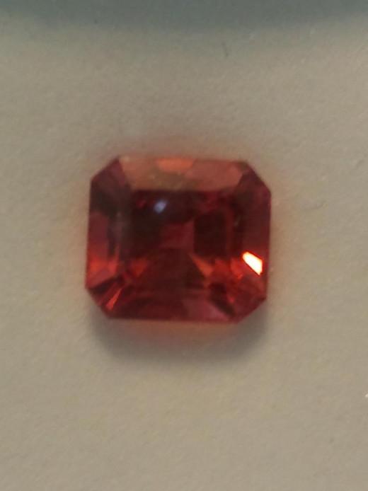 Example of an Orange Gemstone, Orange Sapphire