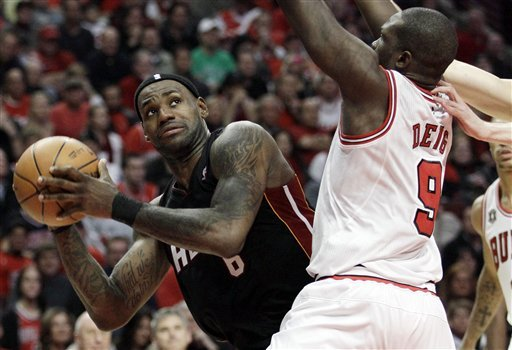 Luol Deng proves himself against LeBron James