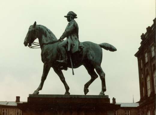 Horseman Statue in Christiansborg Palace Square