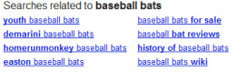 Additional suggestions generated by Google Search