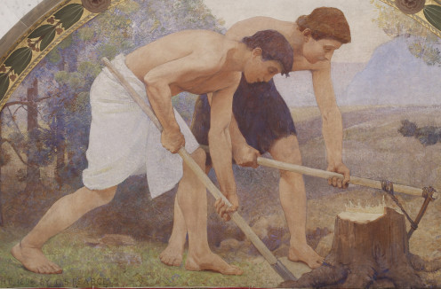 """Labor"" by Charles Sprague Pearce; 1986"