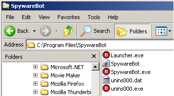 Spyware Bot Installation Folder