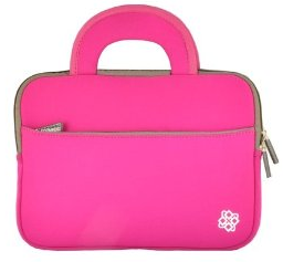 "KOZMICC Neoprene(Pink) Sleeve Case Bag With Handle for 10"" Netbooks"