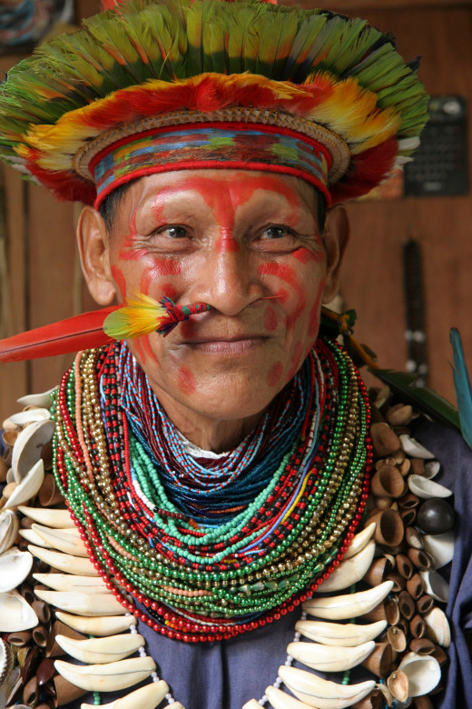 An Amazonian shaman.