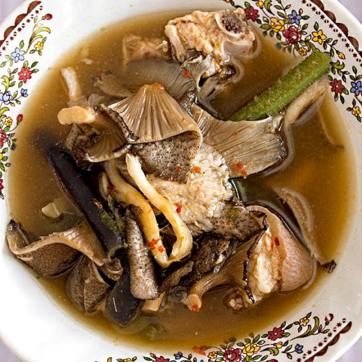 Mushrooms can be added to curries and noodle soups to add flavor, texture and nutritional values