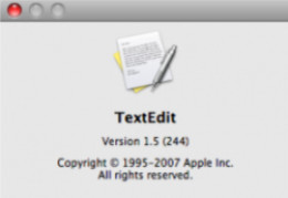 TextEdit About Window