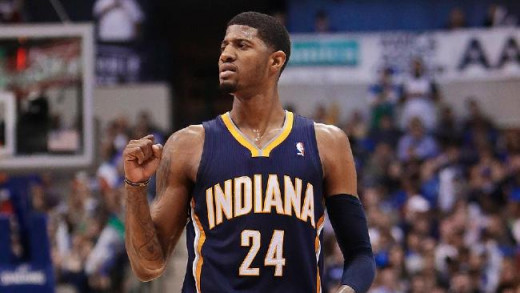 Pacers forward Paul George