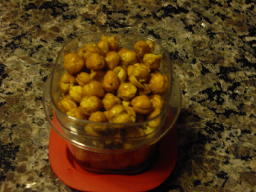"JamiJay's ""Oven Roasted Chickpeas"" make a great crunchy snack"
