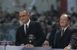 Lyndon Johnson and Hubert Humphrey