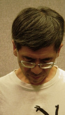 To release all tension from the neck area, drop the neck and breathe deeply as shown above.