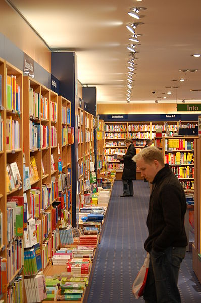 The lost art of browsing in a bookstore.