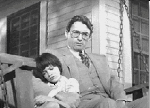 Scout and Addicus as portrayed in the film, 'To Kill a Mockingbird.' (1962)