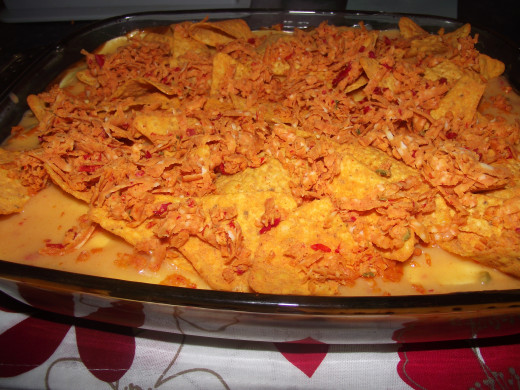 top with doritos and mexicana