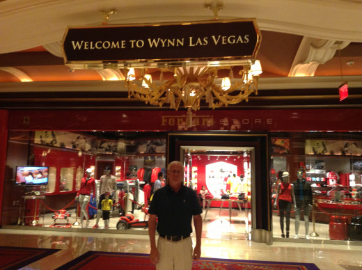 Hubpage author enjoying the Wynn Resort and Casino.
