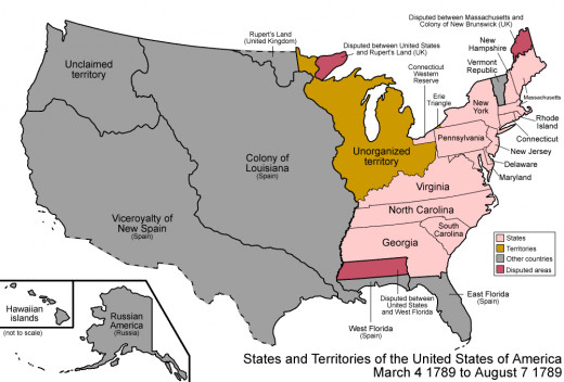 American Frontier Map 1789