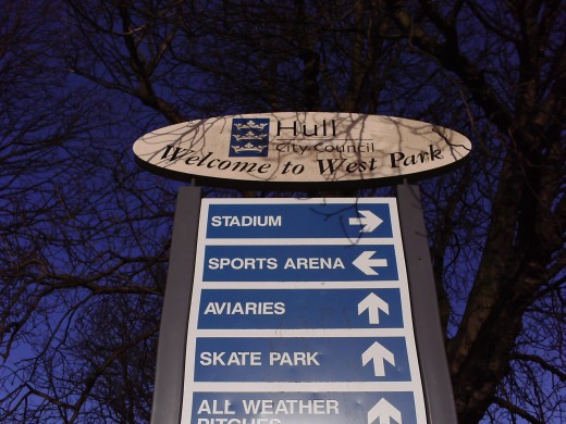 The West Park Sign, find your way around.