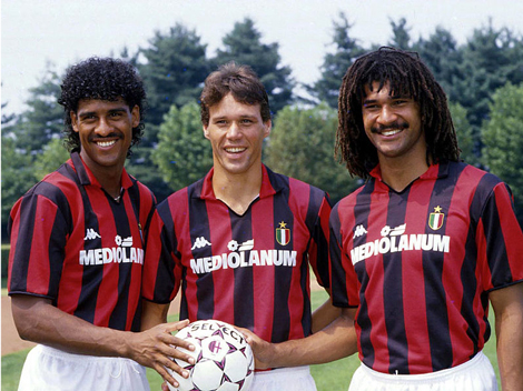 Milan's Dutch trio of Rijkaard, van Basten & Gullit