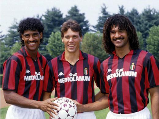 Milan's Dutch trio of Rijkaard, van Basten & Gullit