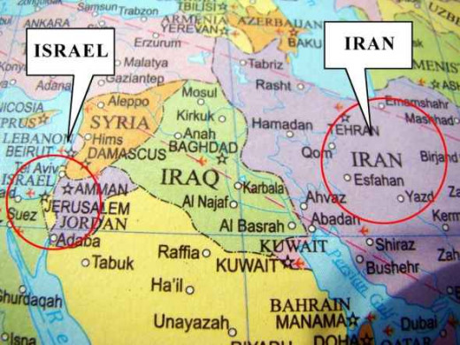 Israel and Iran Map