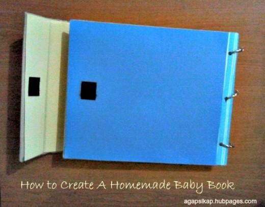 A homemade baby book