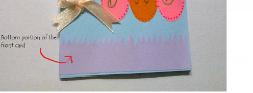 This is how it looks for the 2nd purple paper at the bottom of the card