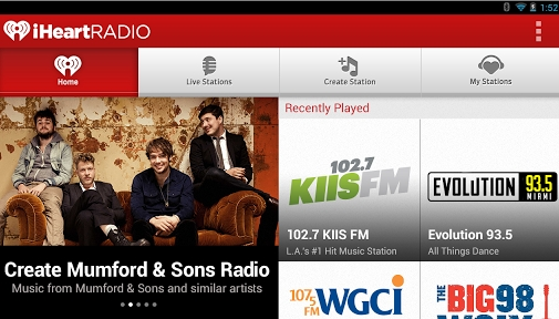 Cool Android radio player iHeartRadio.