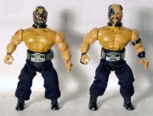 Animal and Hawk of the Road Warriors were famous enough to have toys on the market.  They were also known as the Legion of Doom.
