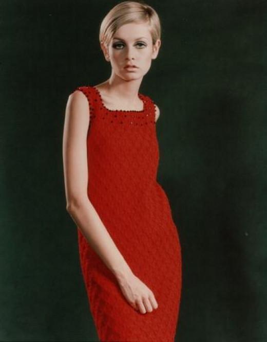 English fashion model Twiggy.