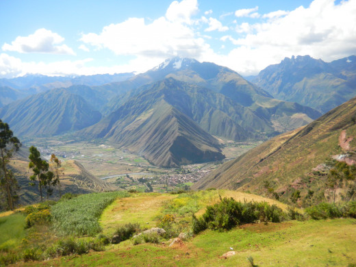 View onto the Urubamba valley