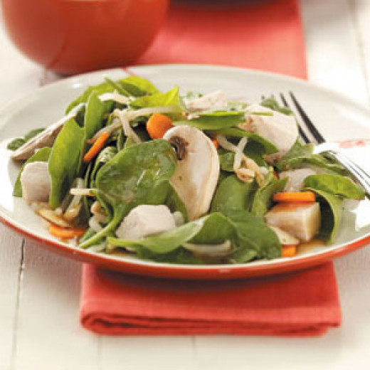 Chinese Spinach and Almond Salad