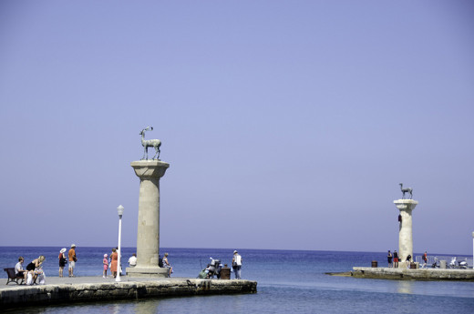 Rhodes-Statue Marking Colossus Feet