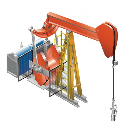 Pump Jack for Oil States done in Coreldraw