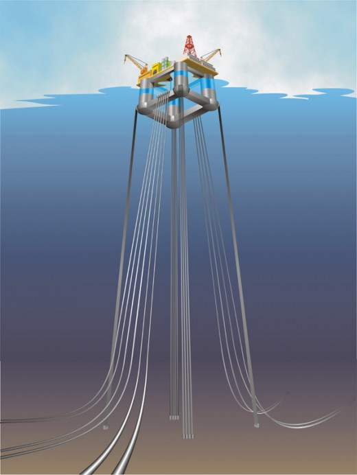 Off Shore Oil Rig for Oil States done in Coreldraw