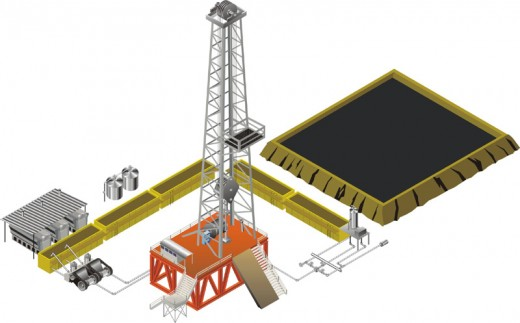 Oil Rig for Oil States done in Coreldraw