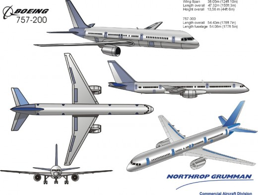 757's for Northrop Grumman done in Coreldraw